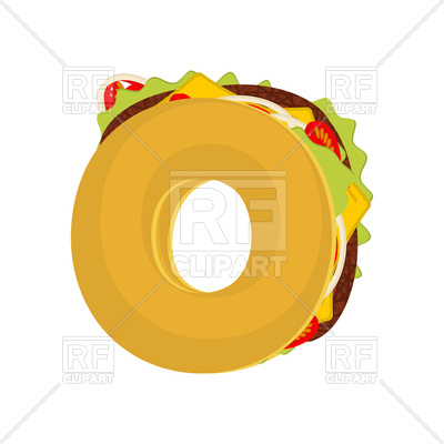 400x400 Letter O Tacos Font Vector Image Vector Artwork Of Fonts Amp Type