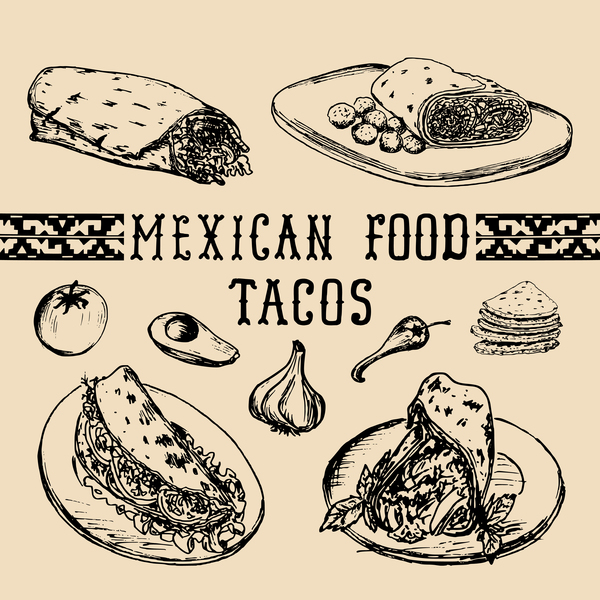 600x600 Mexican Food Tacos Vector Material Free Download