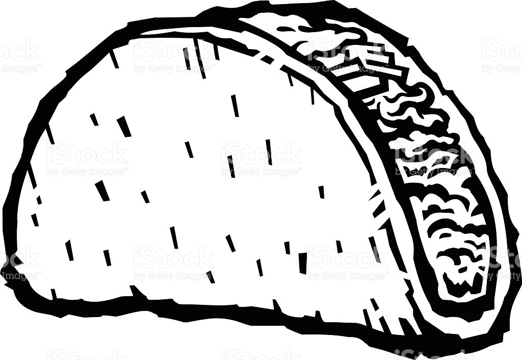 1024x705 Collection Of Taco Line Drawing High Quality, Free Cliparts