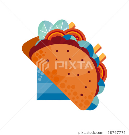 450x468 Tacos, Traditional Mexican Food Vector
