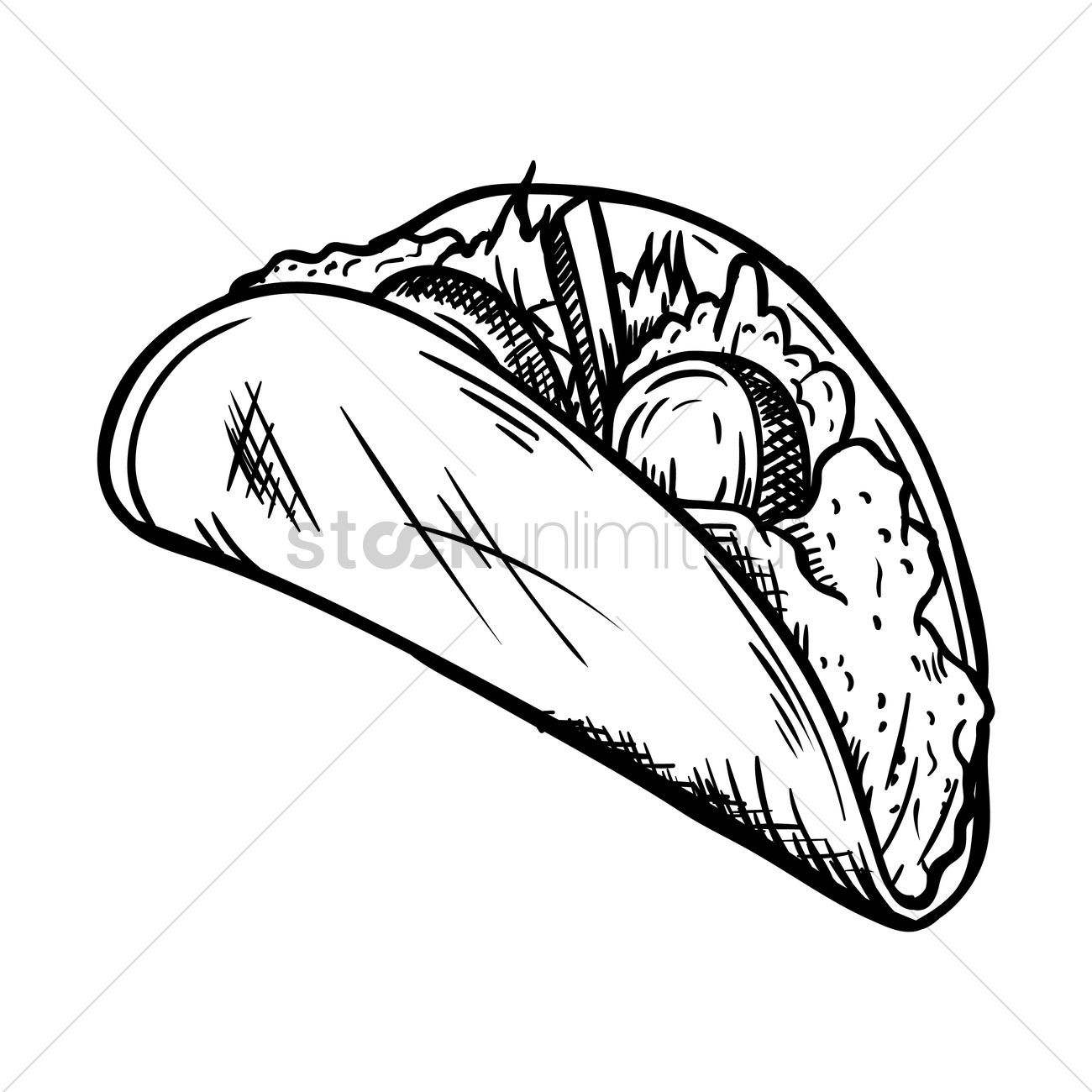 1300x1300 Tacos Vector Image