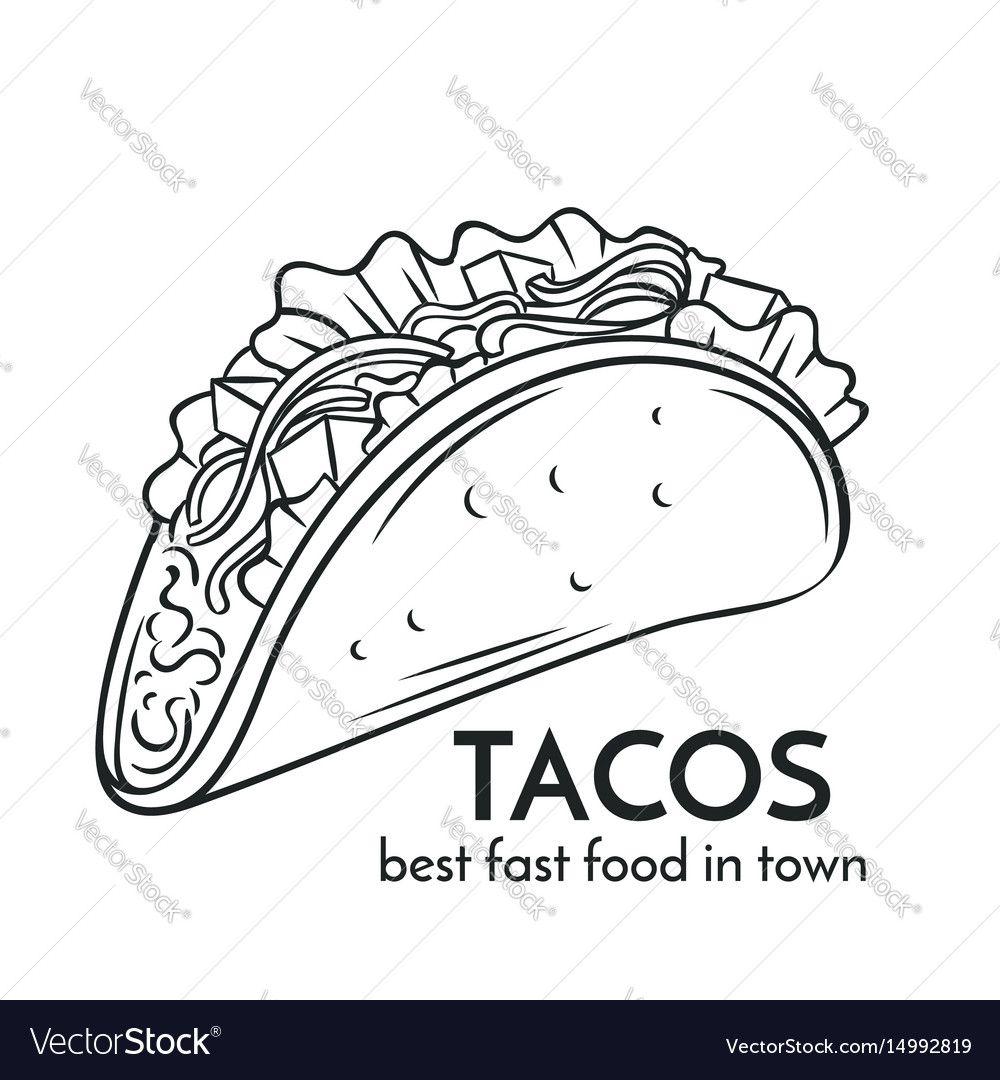 1000x1080 Drawn Tacos Vector