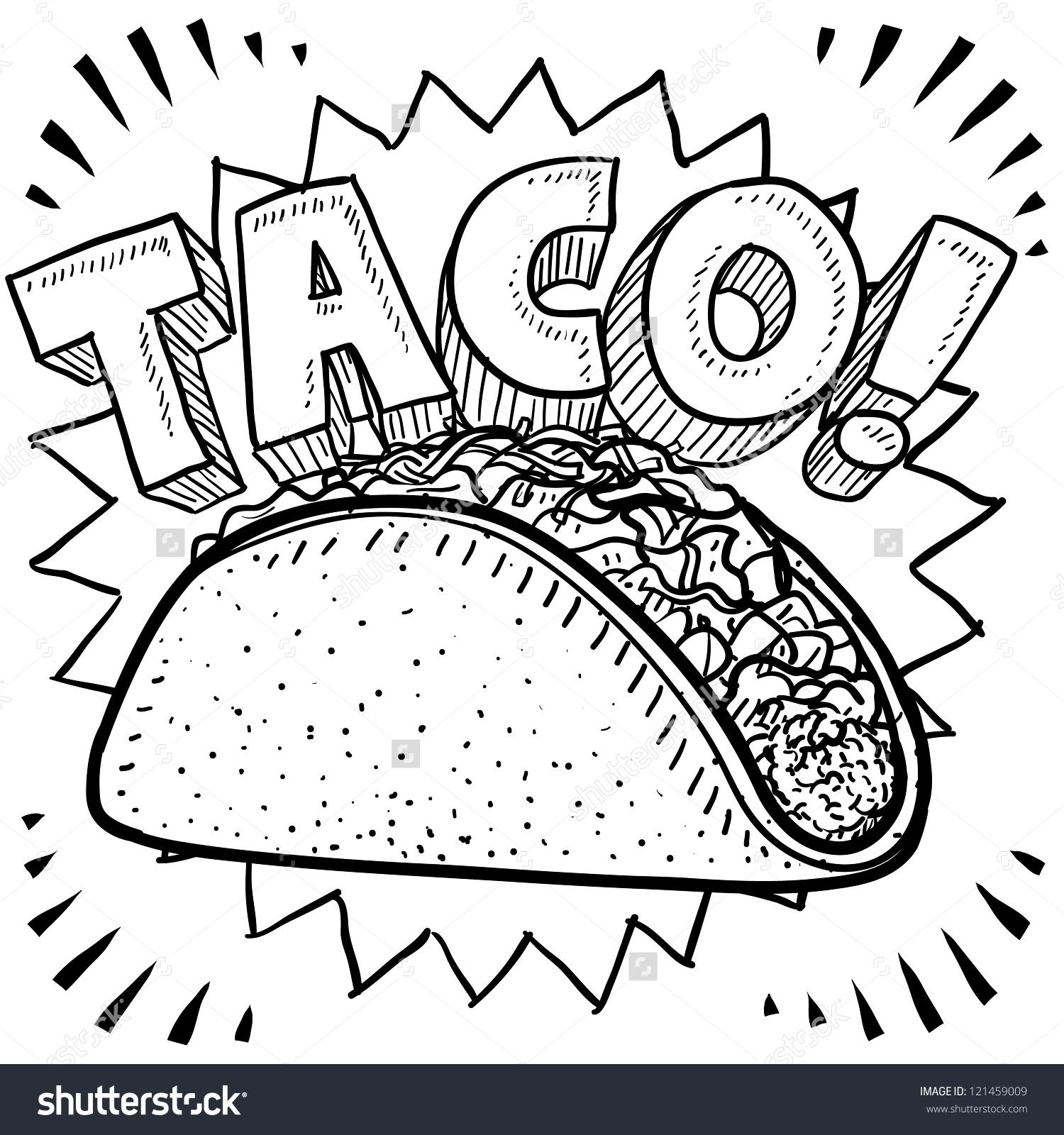 1500x1600 Drawn Tacos Mexican