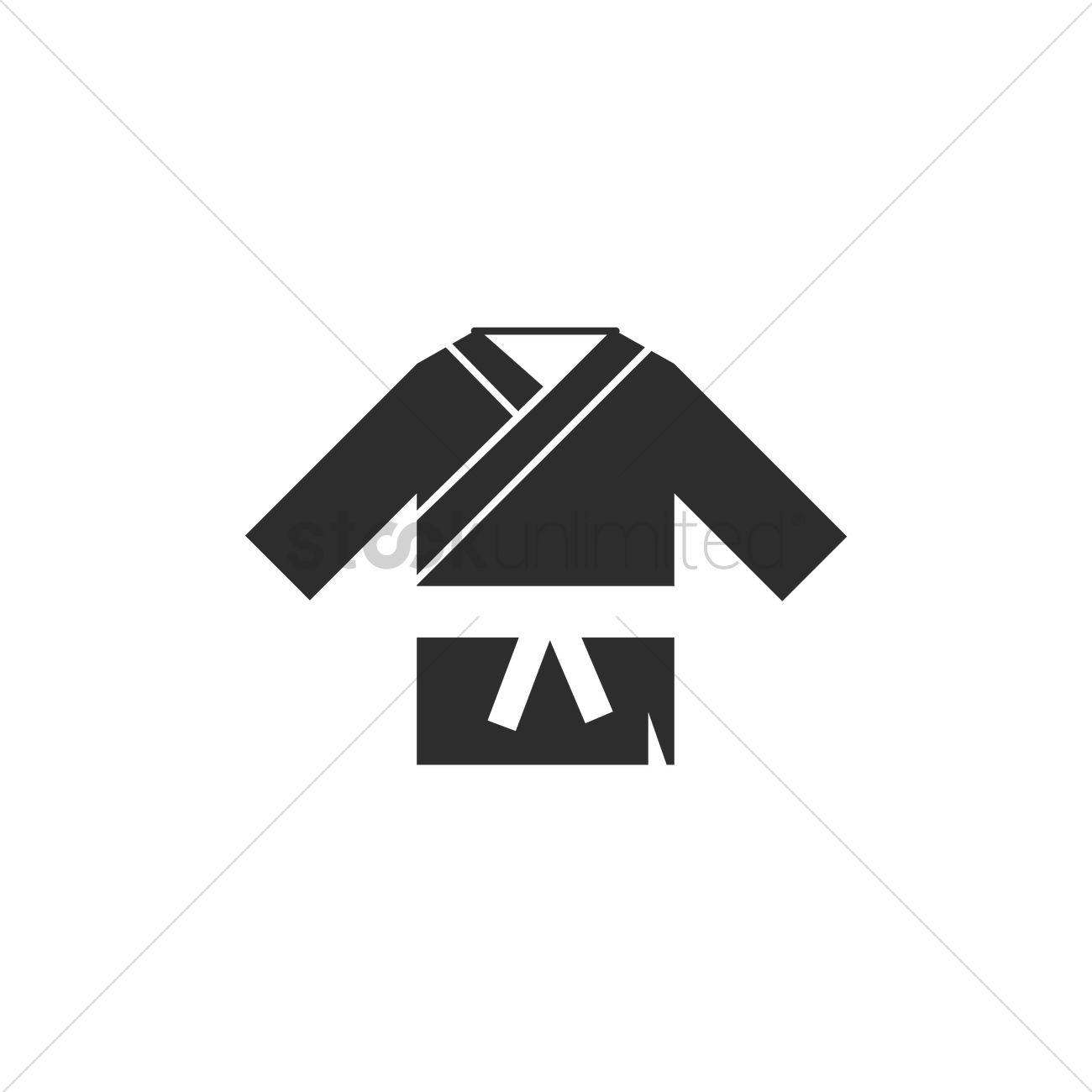 1300x1300 Taekwondo Uniform Vector Image
