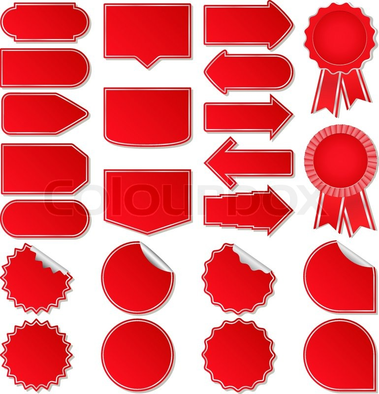 770x800 Red Vector Price Tags Stock Vector Colourbox