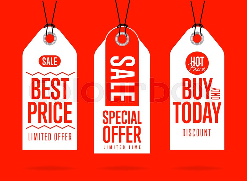 800x587 Sale Tag Vector Isolated. Sticker With Special Advertisement Offer