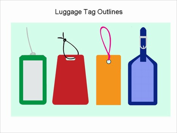 Luggage Tag Vector At Getdrawings Com Free For Personal