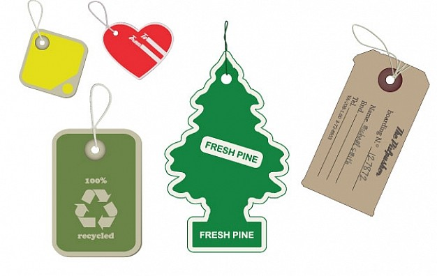 626x396 Hanging Tags Vector Free Download