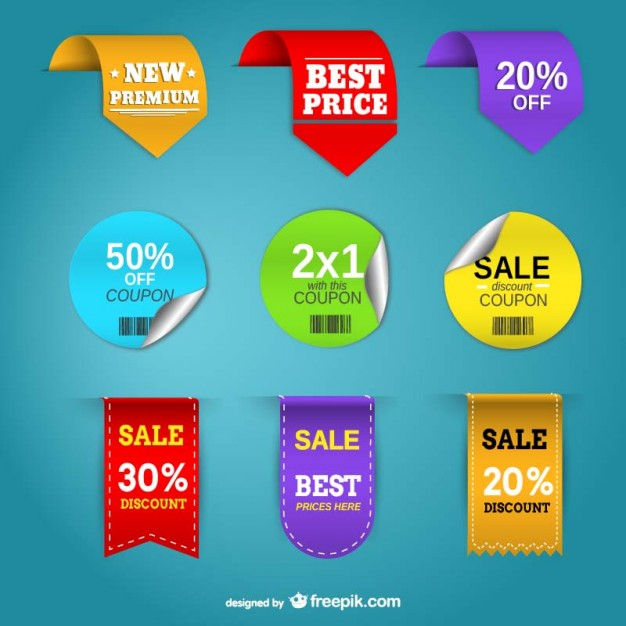 626x626 Promotion Price Labels Vector Free Download