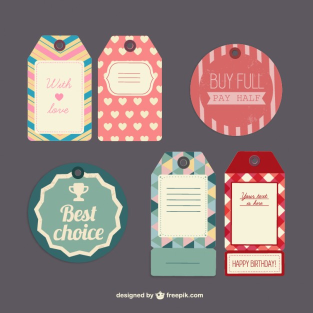 626x626 Red And Green Tags Collection Vector Free Download