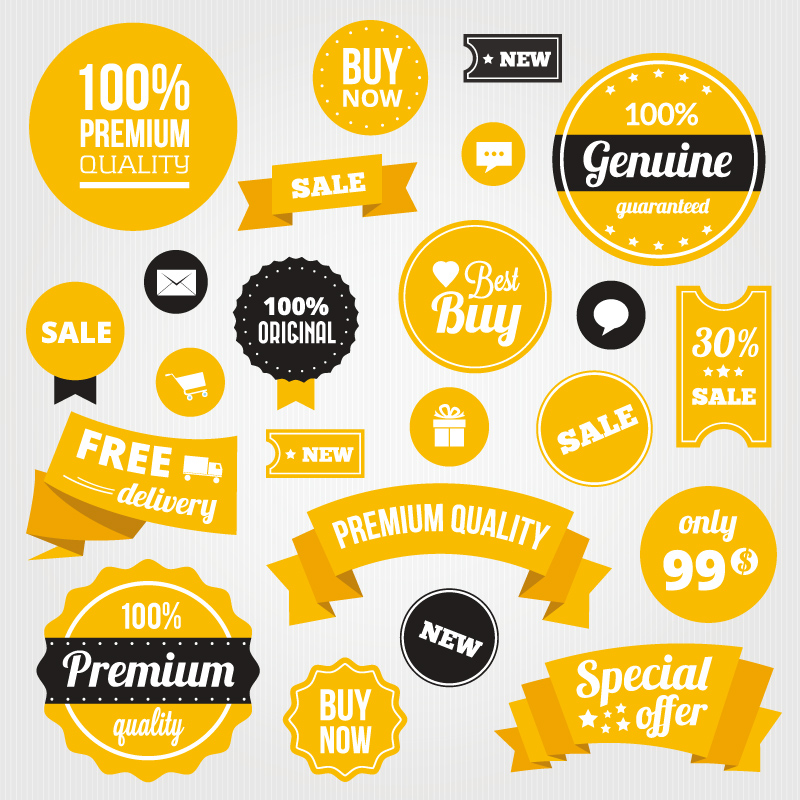 800x800 Yellow Sale Tags Vector Free Vector Graphic Download