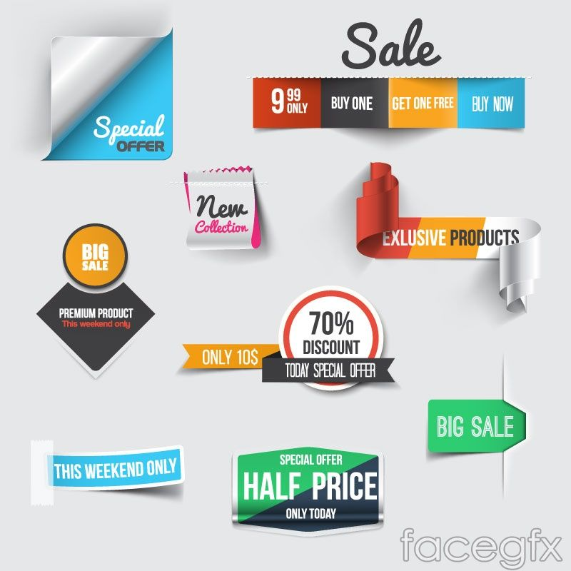 800x800 9 Creative Discount Tag Vector Email Newsletter