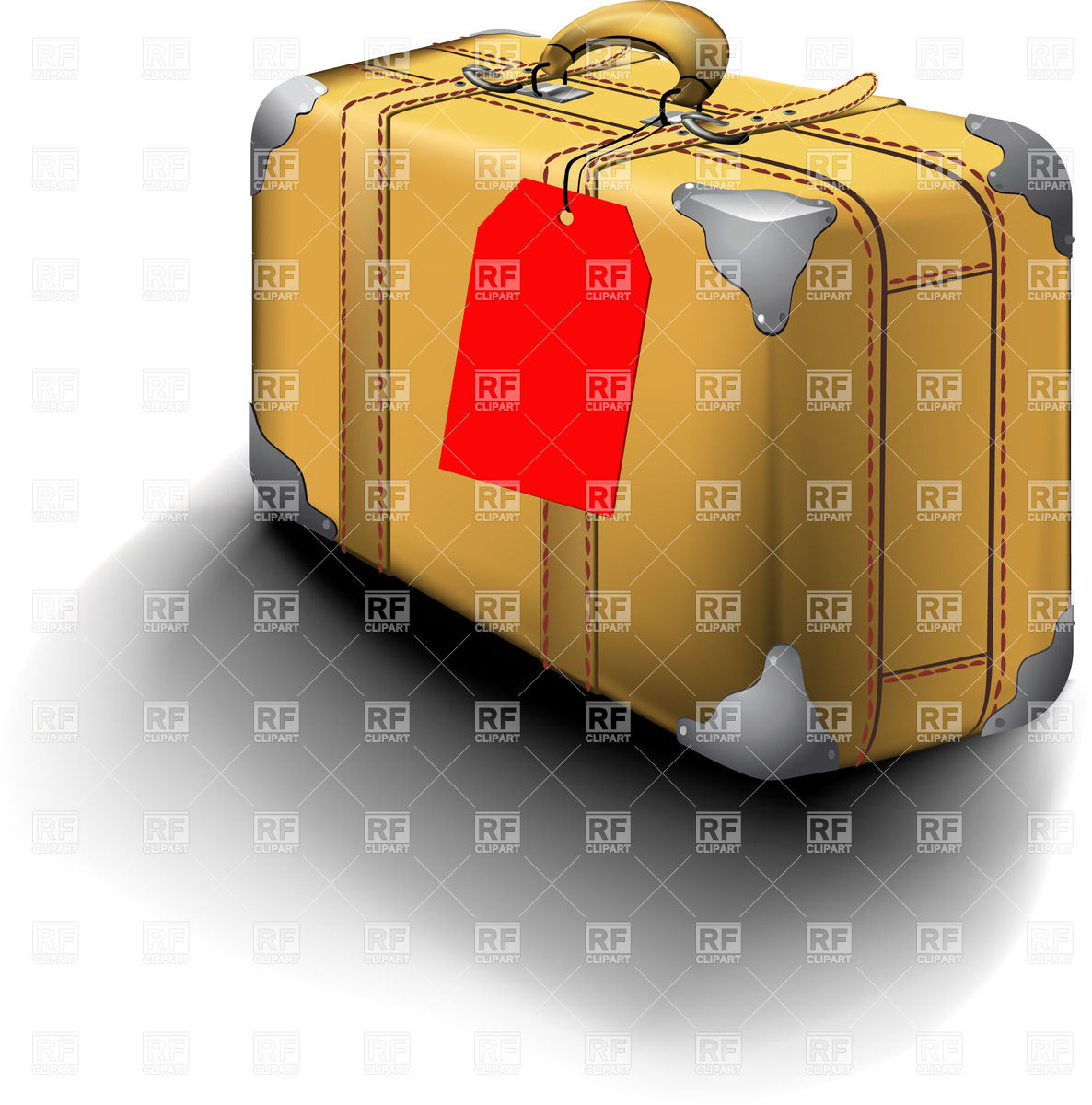 1186x1200 Old Yellow Suitcase With Name Tag Vector Image Vector Artwork Of