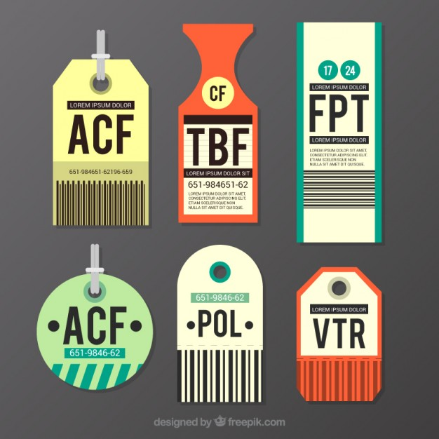 626x626 Several Luggage Tags Vector Free Download
