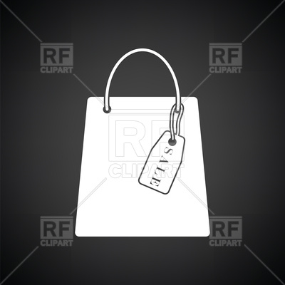 400x400 Shopping Bag With Sale Tag Vector Image Vector Artwork Of