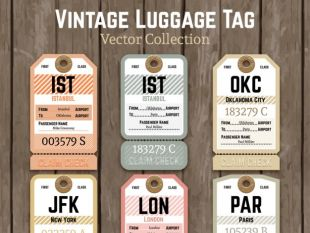 310x233 Vintage Luggage Tags Template Free Vectors Ui Download