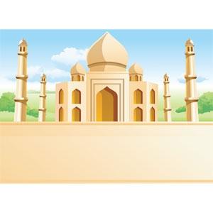 300x300 Taj Mahal Clipart Vector 23