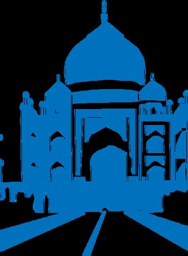 368x500 Taj Mahal Vector Graphics Public Domain Vectors