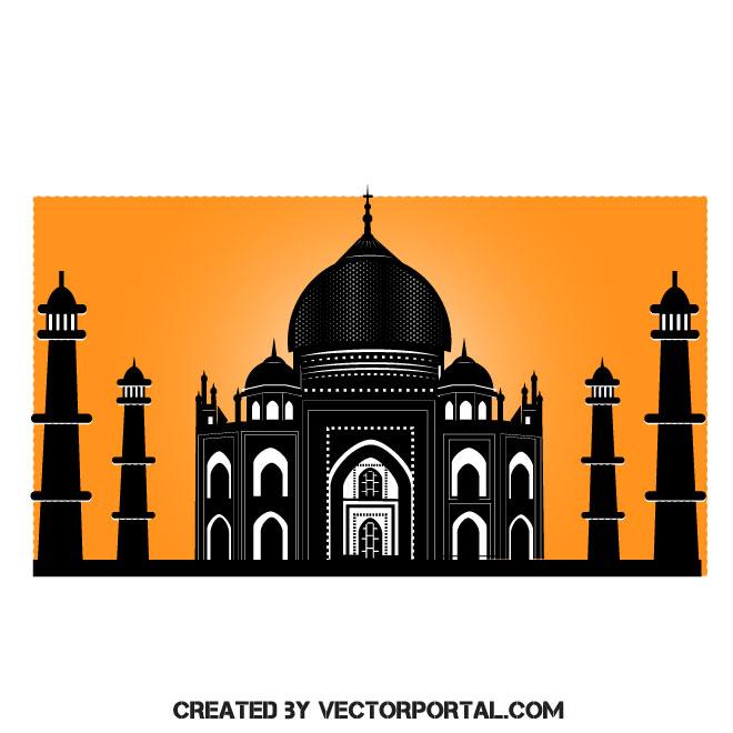 660x660 Taj Mahal Vector Image