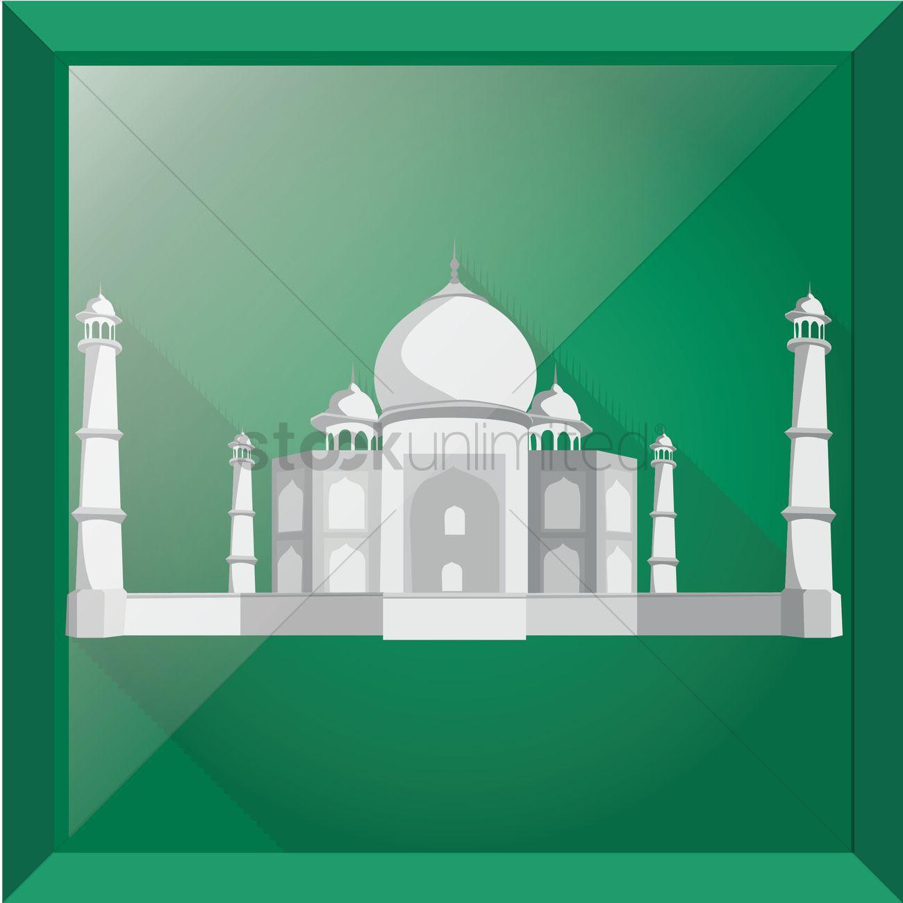1300x1300 Taj Mahal Vector Image