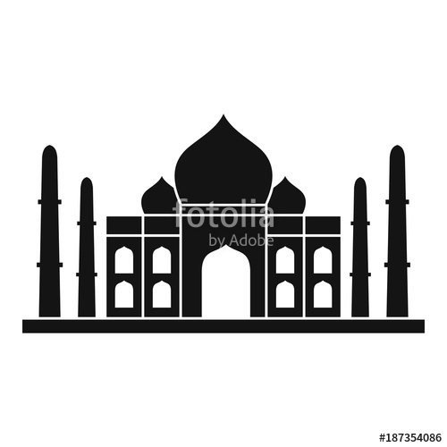 500x500 Taj Mahal Icon, Simple Style Stock Image And Royalty Free Vector