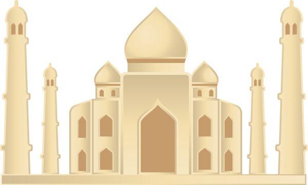 600x361 Taj Mahal Vector Art