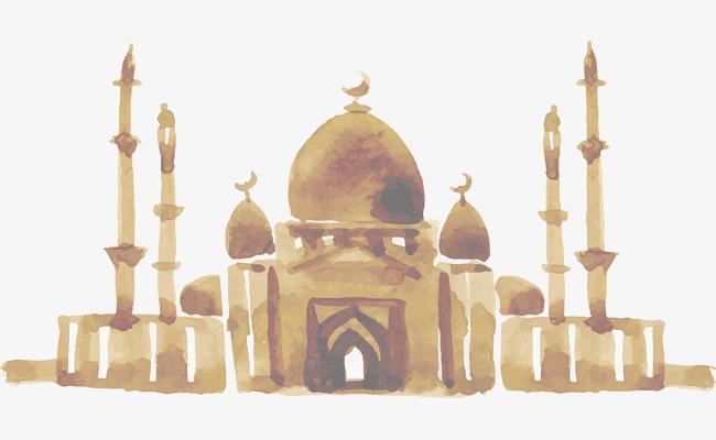 650x400 Hand Painted Indian Taj Mahal, Hand Vector, Vector Material, Taj