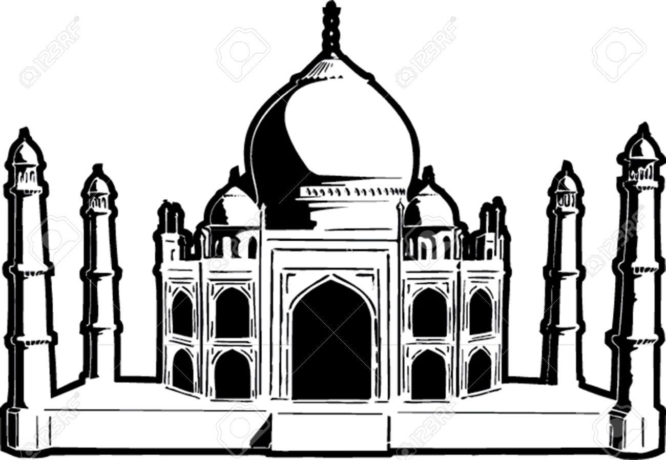 1300x898 Mosque Clipart Raj Mahal ~ Frames ~ Illustrations ~ Hd Images