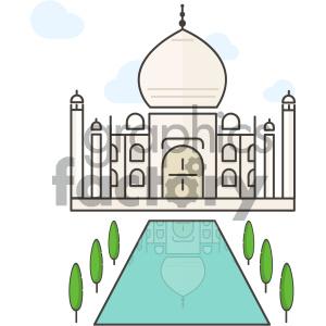 300x300 Royalty Free Taj Mahal Vector Art 404133 Vector Clip Art Image