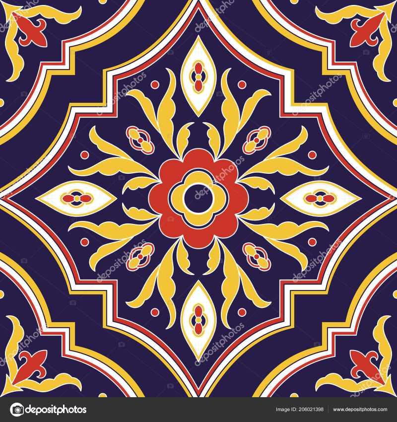 800x850 Talavera Mexican Tile Unique Mexican Tile Pattern Vector Seamless