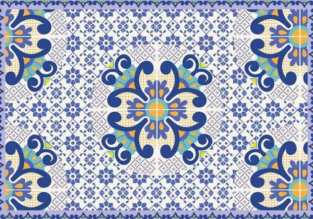632x443 Talavera Pattern Vector Free Vector Download 353401 Cannypic