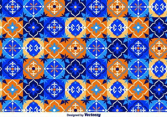 632x443 Blue Talavera Vector Pattern Free Vector Download 371391 Cannypic