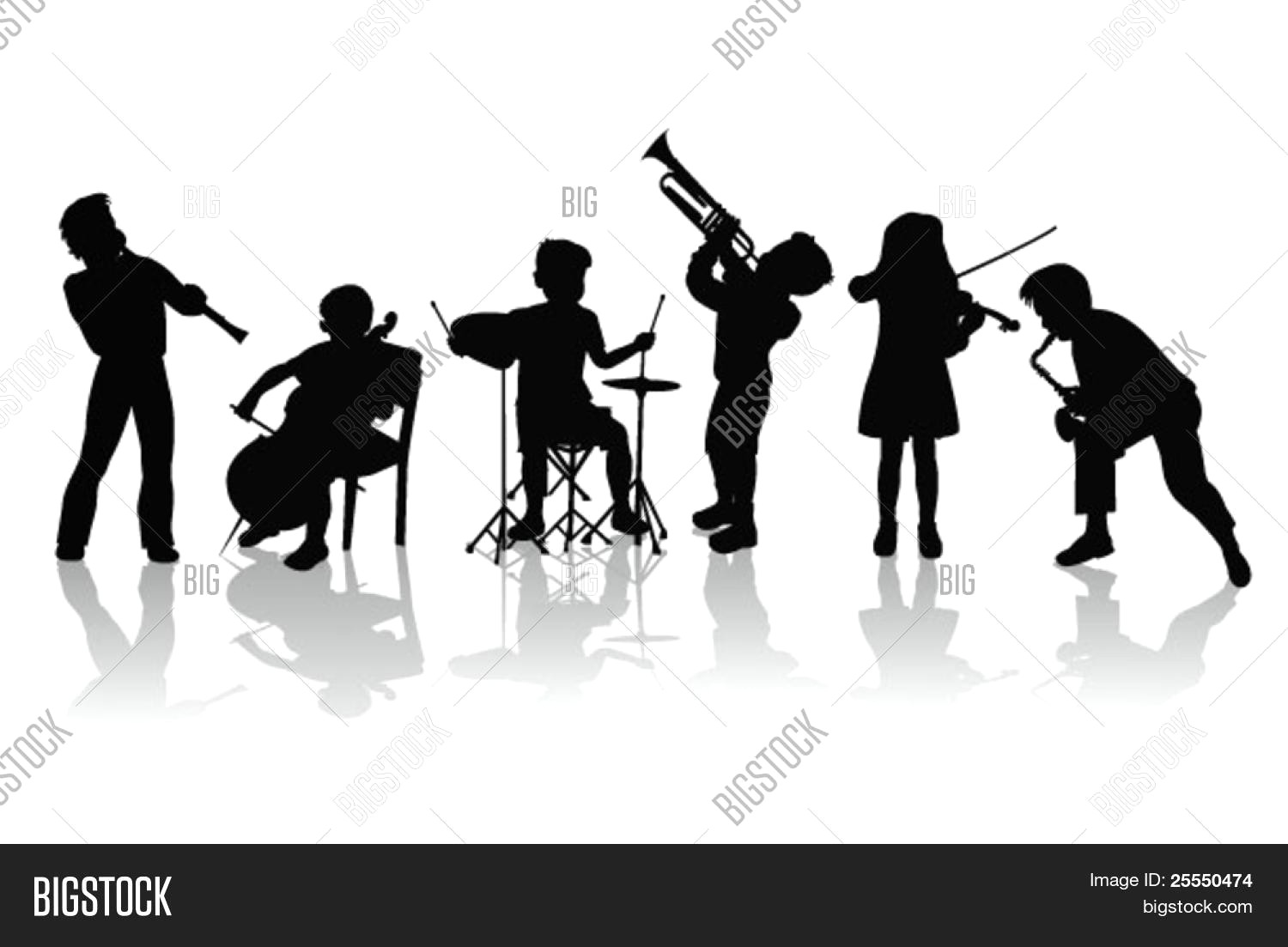 1500x1103 Musicians Silhouettes Vector Photo Bigstock Talent Show Clipart