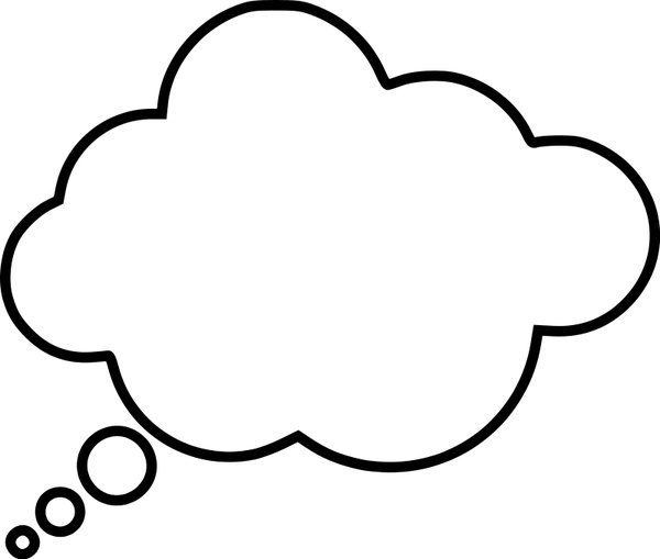 600x509 Cartoon Thought Bubble Free Vector In Open Office Drawing Svg
