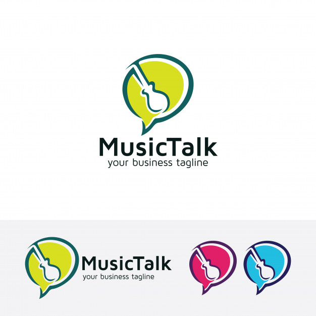 626x626 Music Talk Vector Logo Template Vector Premium Download