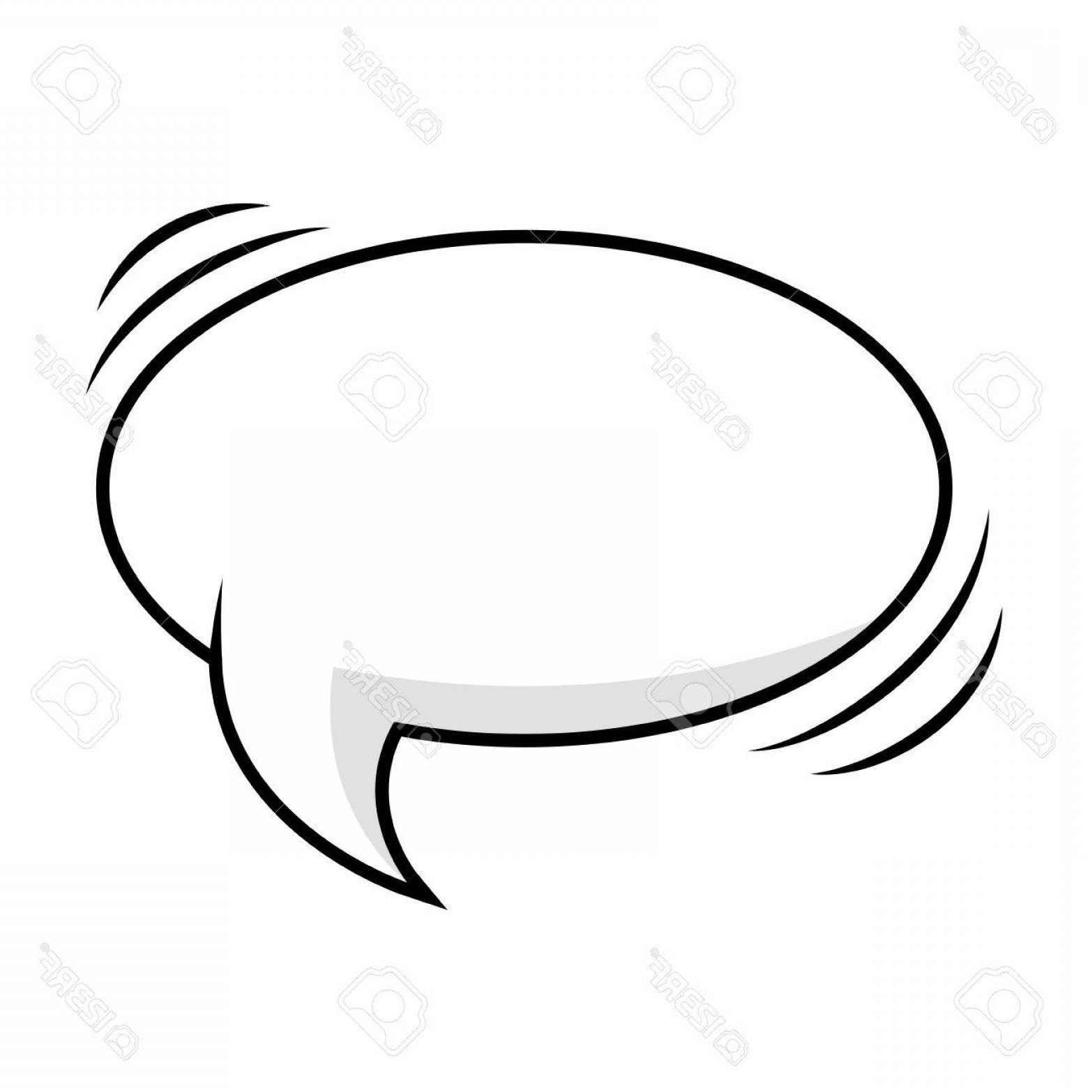 1560x1560 Photostock Vector Comic Bubble Talk Speech Idea Expression Cartoon