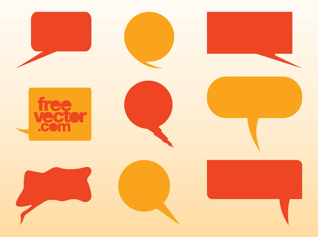 1024x765 Speech Balloons Vector Vector Art Amp Graphics