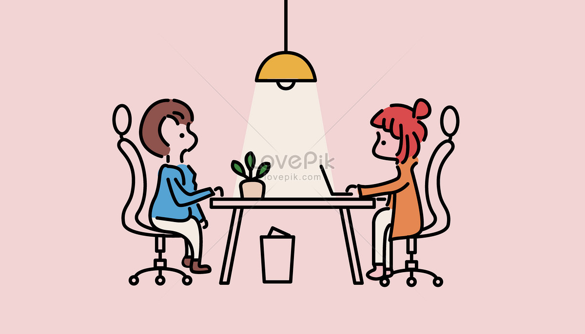 1200x686 Business Office Talk Vector Illustration Image Picture Free