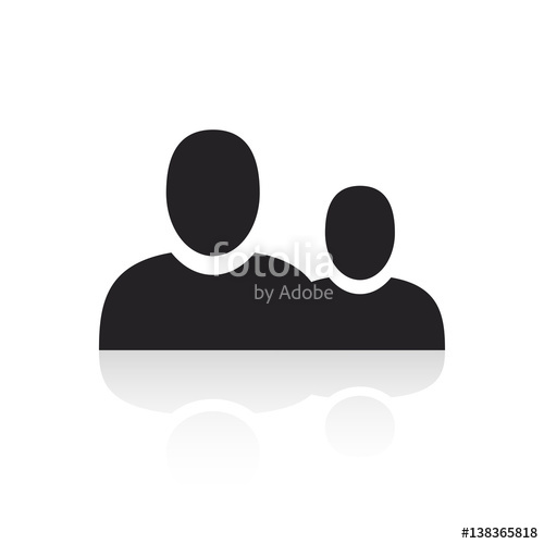 500x500 Chat Speech Bubble Symbol. Persons Talk Vector. Persons Vector