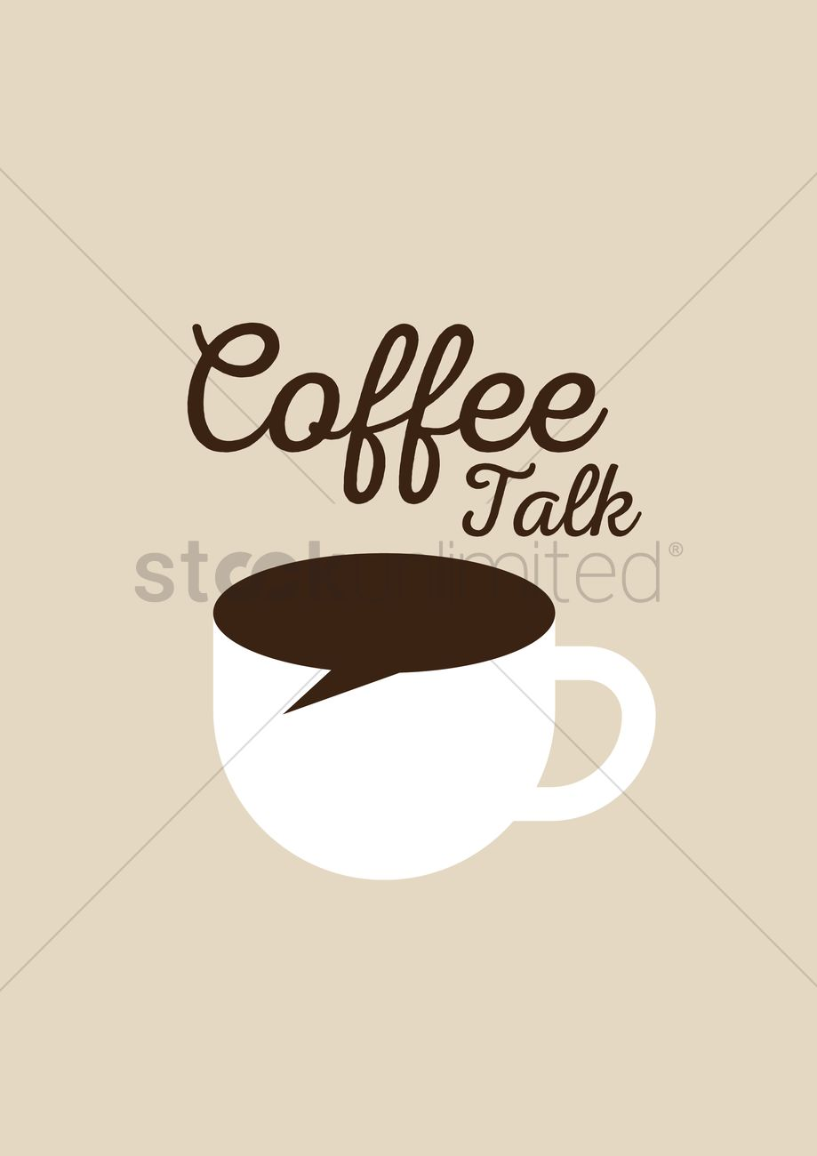 919x1300 Coffee Talk Vector Image