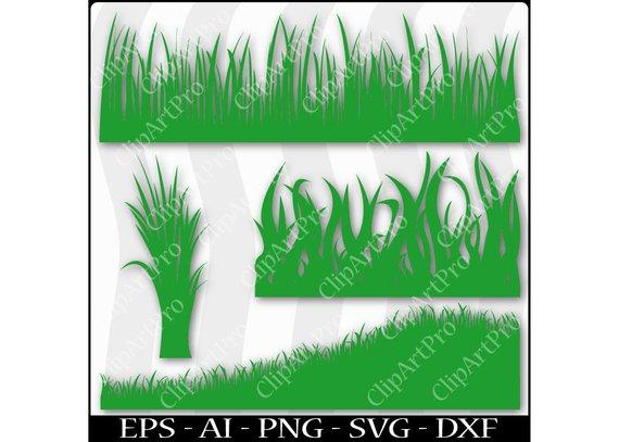 570x407 Tall Wild Ornamental Grass Hill Graphic Silhouette Cutout Etsy