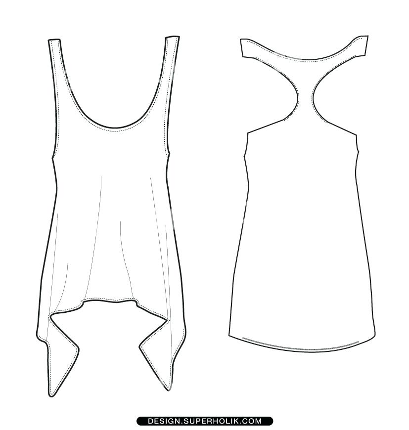 827x870 More Free Template Tank Top T Shirt Model White Front And Back