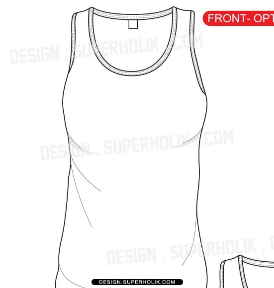 551x580 Tank Top Template Fmtank 002 Jr Tank Detail Newest Consequently