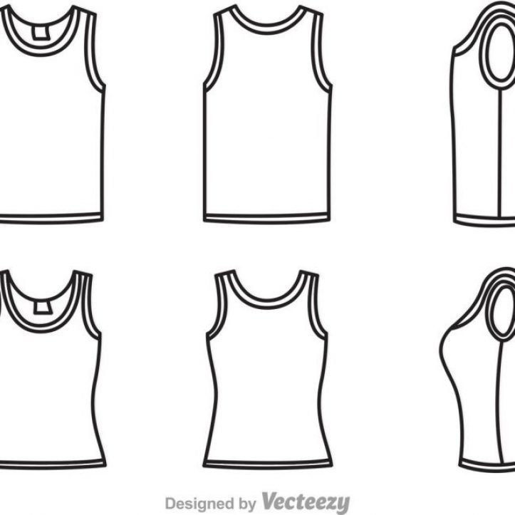 723x723 Tank Top Template Vector Psd Templates Essential Including 11 Psd