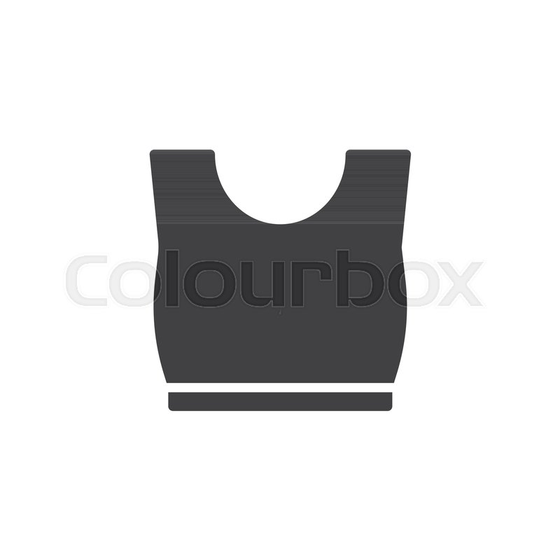 800x800 Tank Top Icon Vector, Filled Flat Sign, Solid Pictogram Isolated