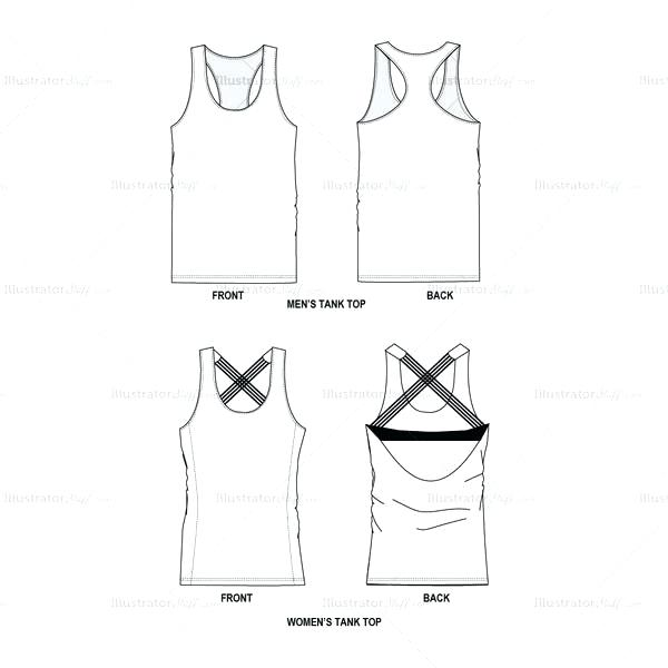 Tank Top Vector At Getdrawings Com Free For Personal Use Tank Top