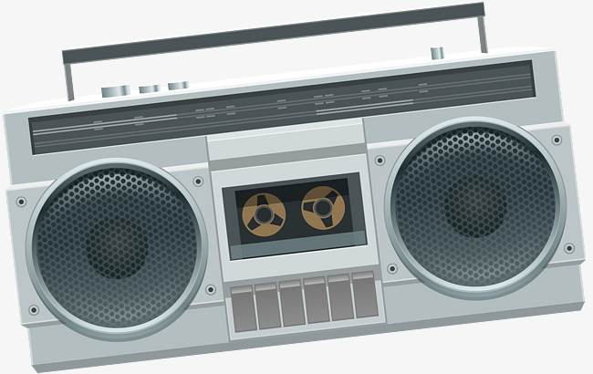 650x410 Old Music Player Tape Recorder Vector, Old Player Vector, Old Tape