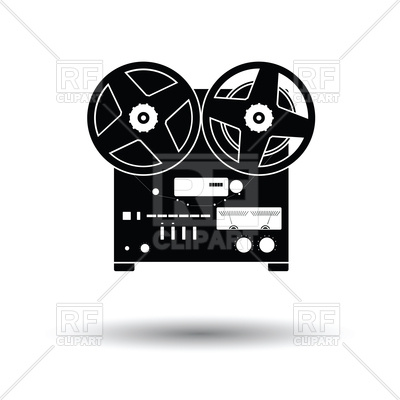 400x400 Reel Tape Recorder Icon Vector Image Vector Artwork Of