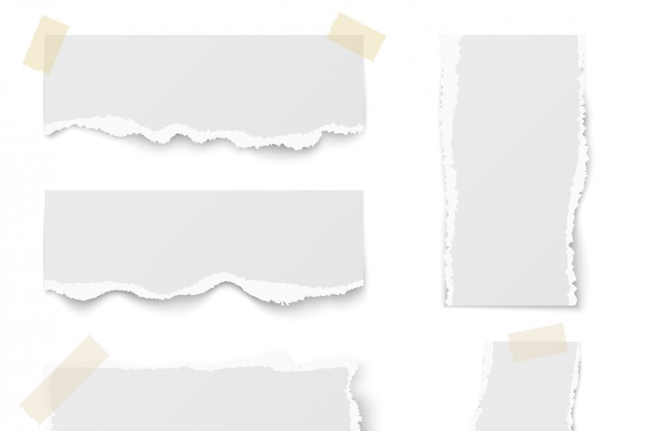 720x479 Torn Note Paper With Adhesive Tape Vector Set By Microvector