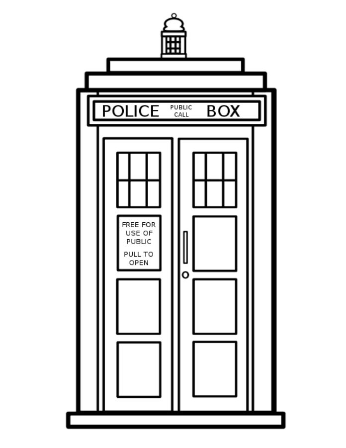 696x901 Doctor Who Clipart Phone Booth